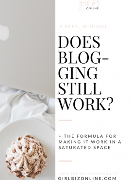 DOES BLOGGING STILL WORK?