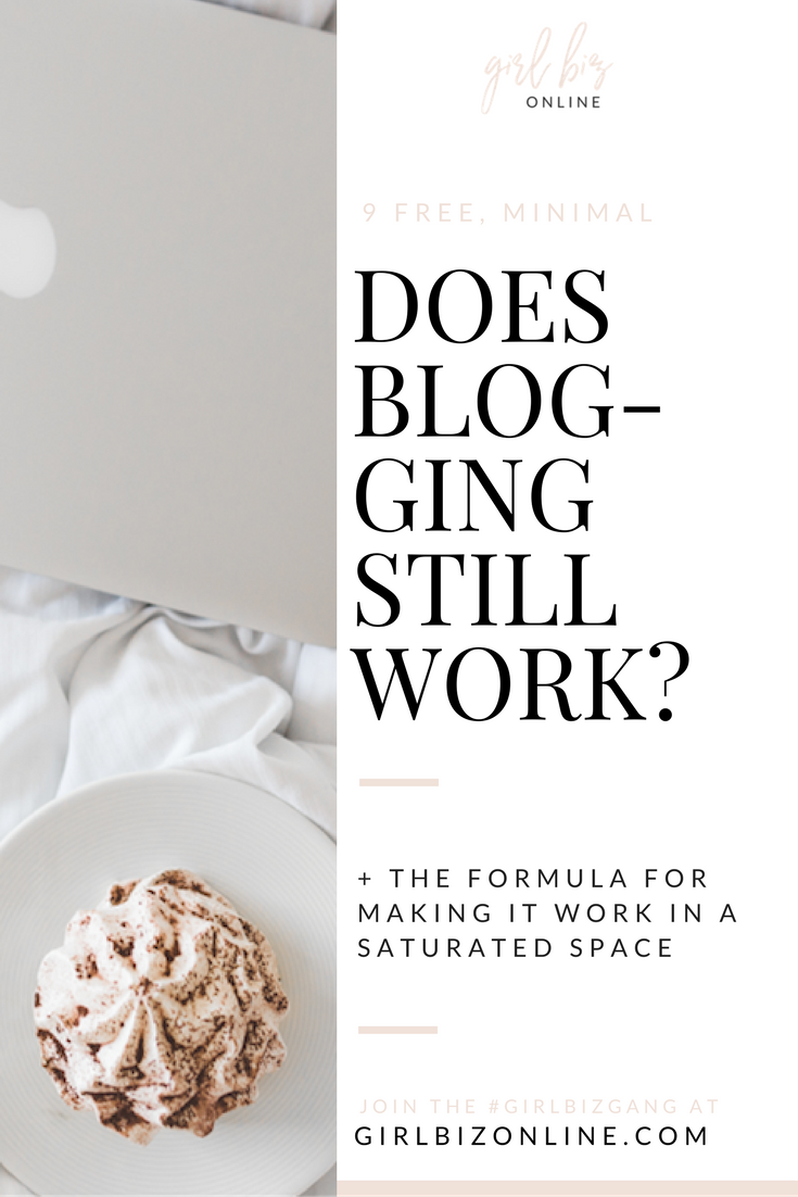 Does Blogging Still Work - The FORMULA for a money-making blog in the saturated online world!