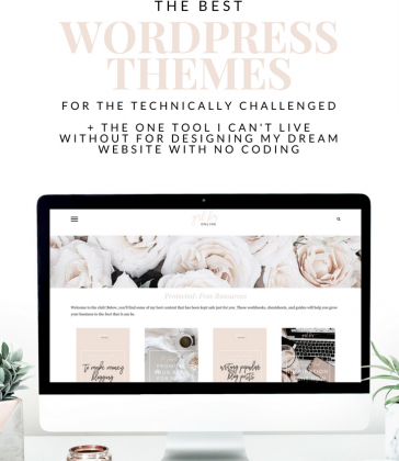 THE BEST WORDPRESS THEMES FOR THE TECHNICALLY CHALLENGED (UNDER $50)