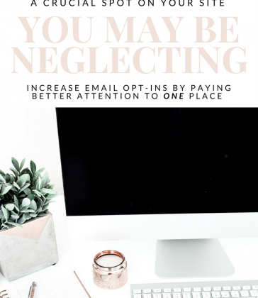 A CRUCIAL, MONEY-MAKING SPOT ON YOUR WEBSITE THAT YOU MAY BE NEGLECTING