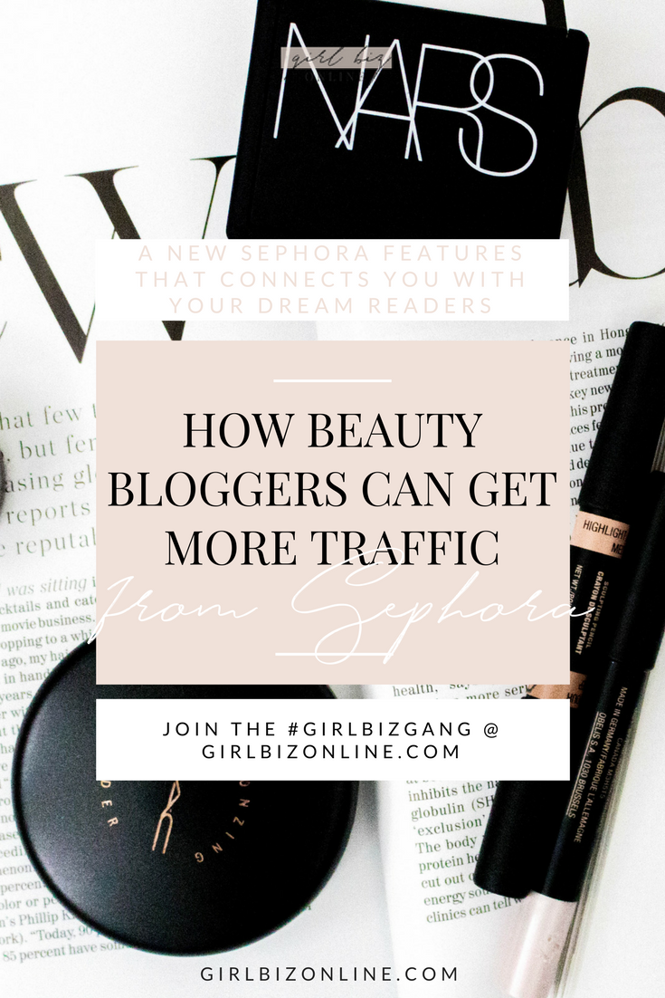sephora beauty blog traffic
