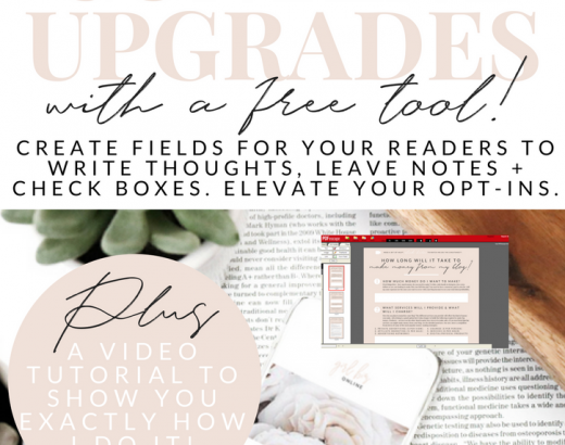 HOW TO ADD FILLABLE FIELDS IN YOUR PDF CONTENT UPGRADES (FOR FREE!)