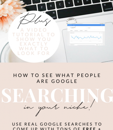 USE GOOGLE SEARCHES TO COME UP WITH POPULAR BLOG POST IDEAS