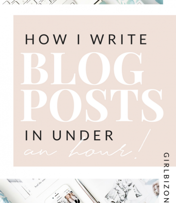 HOW TO WRITE A BLOG POST IN UNDER AN HOUR
