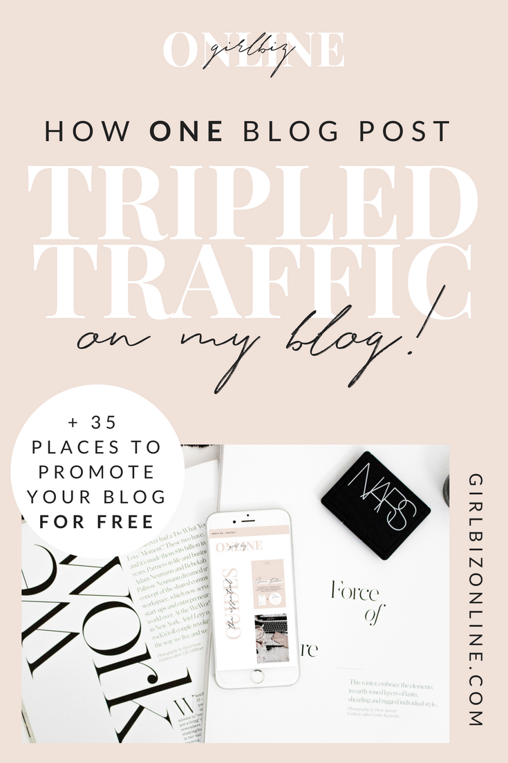 How One Blog Post Tripled My Blog Traffic, How to Get More Blog Post Traffic, How to Rank on First Page of Google, Popular Blog Post Ideas